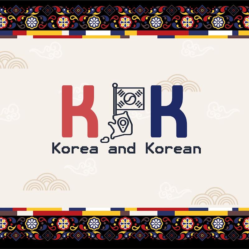 Logo for K&K - Korea & Korean