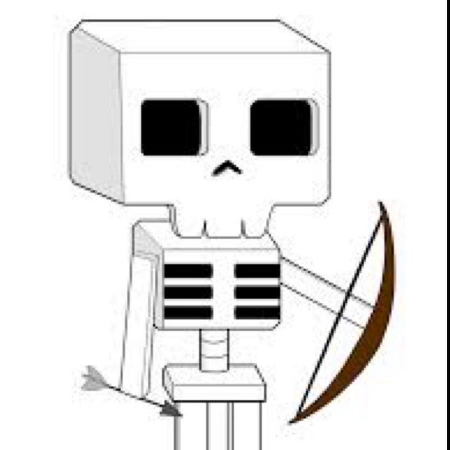 как нарисовать скелета из майнкрафт #1